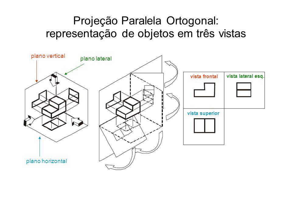 Projeção Paralela Ortogonal: representação de objetos em três vistas