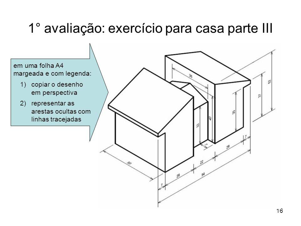 1° avaliação: exercício para casa parte III