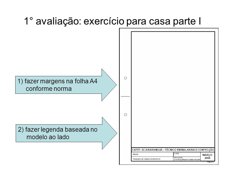 1° avaliação: exercício para casa parte I