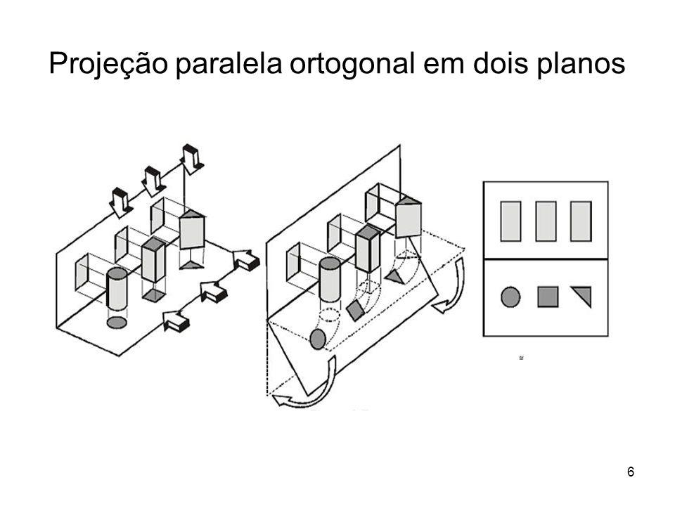 Projeção paralela ortogonal em dois planos