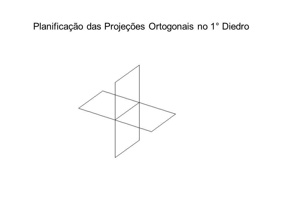Planificação das Projeções Ortogonais no 1° Diedro