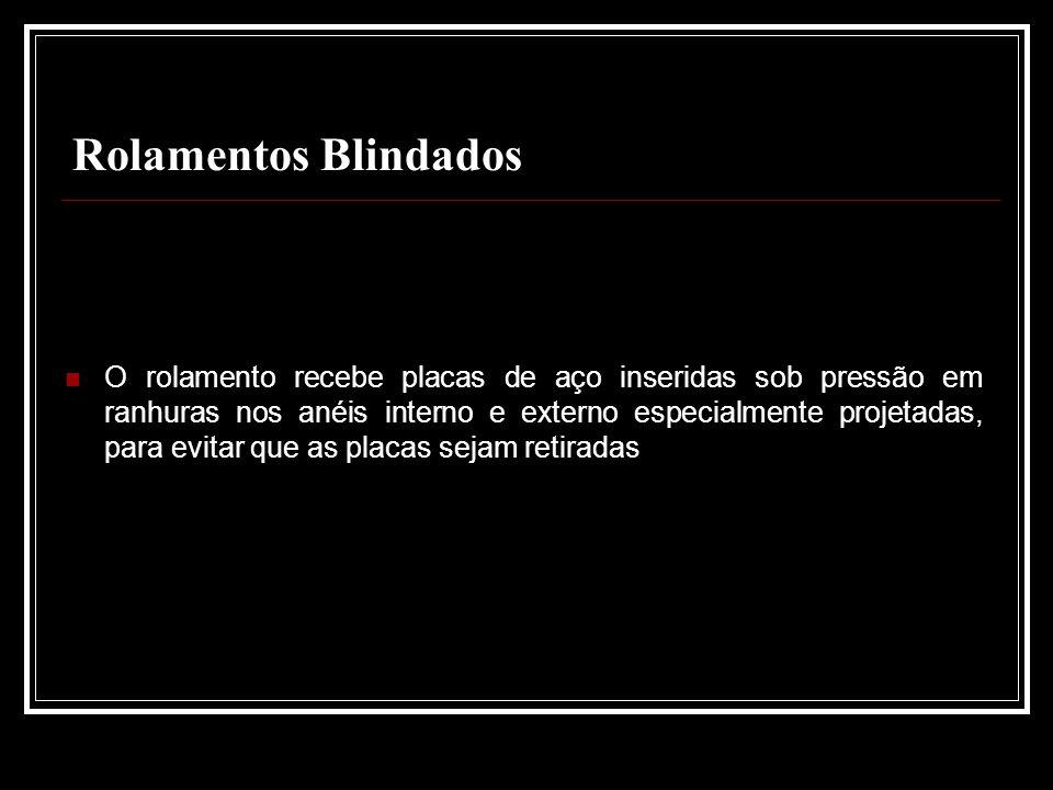 Rolamentos Blindados