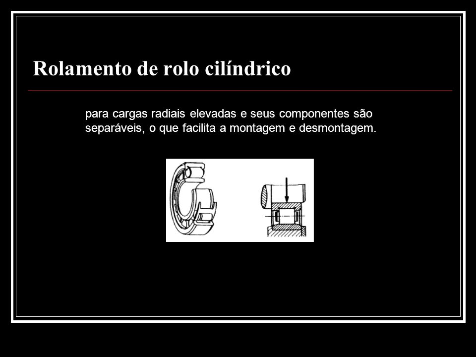 Rolamento de rolo cilíndrico