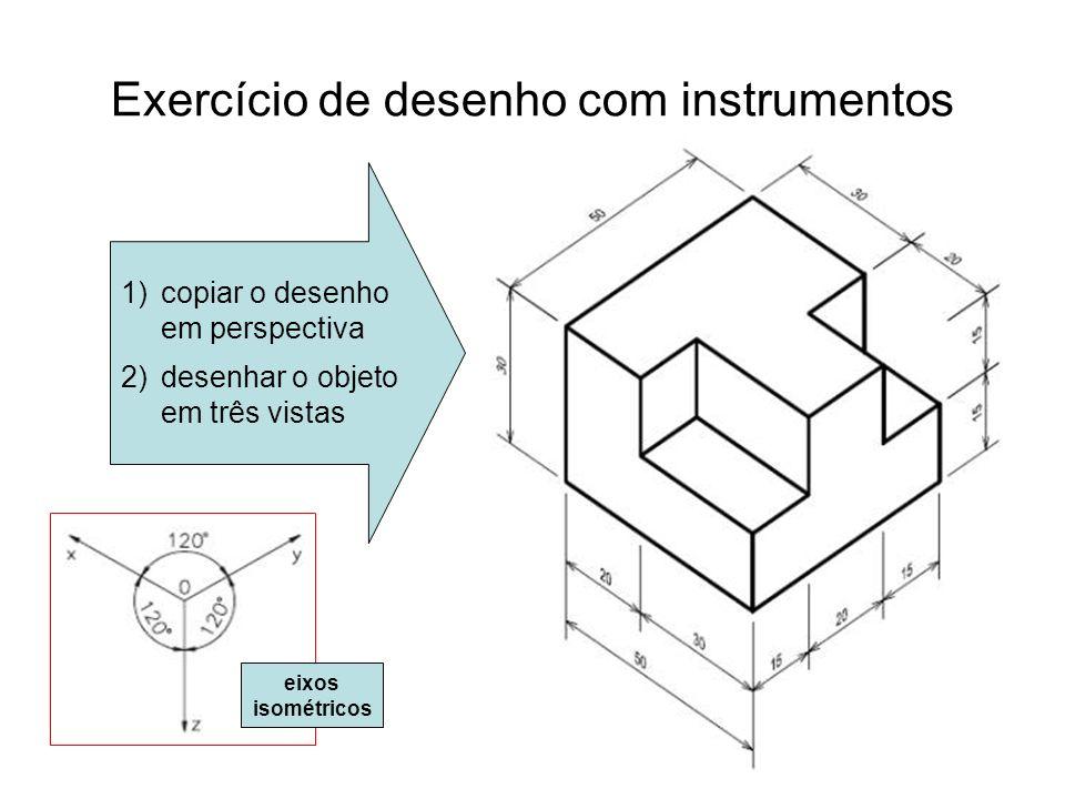 Exercício de desenho com instrumentos