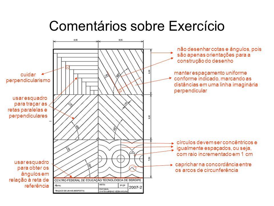 Comentários sobre Exercício
