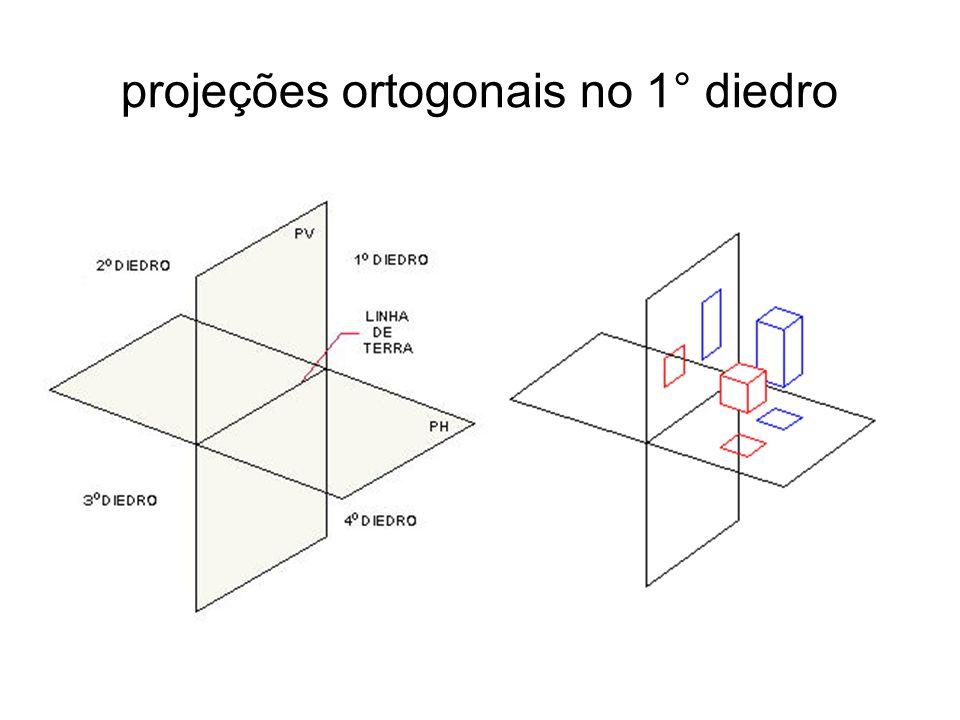 projeções ortogonais no 1° diedro