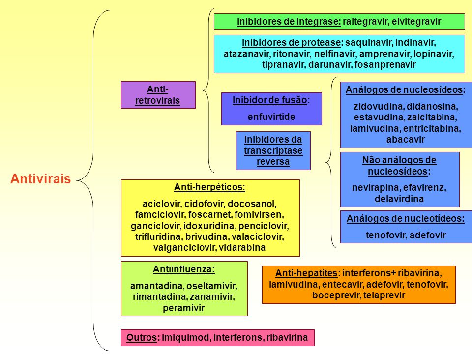 Antivirais Inibidores de integrase: raltegravir, elvitegravir