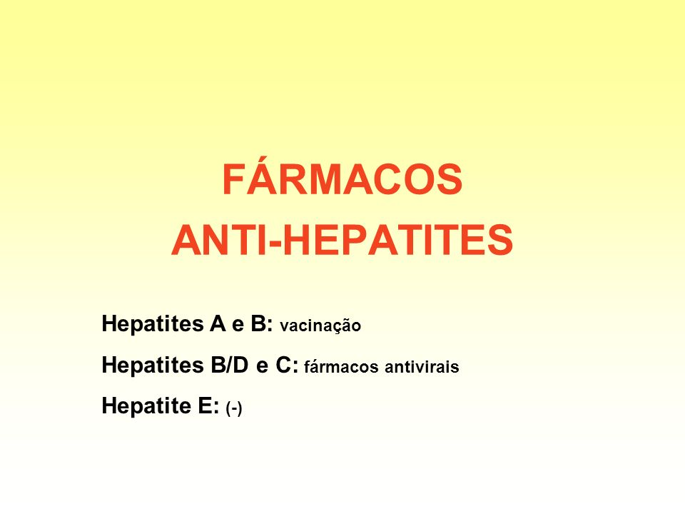 FÁRMACOS ANTI-HEPATITES