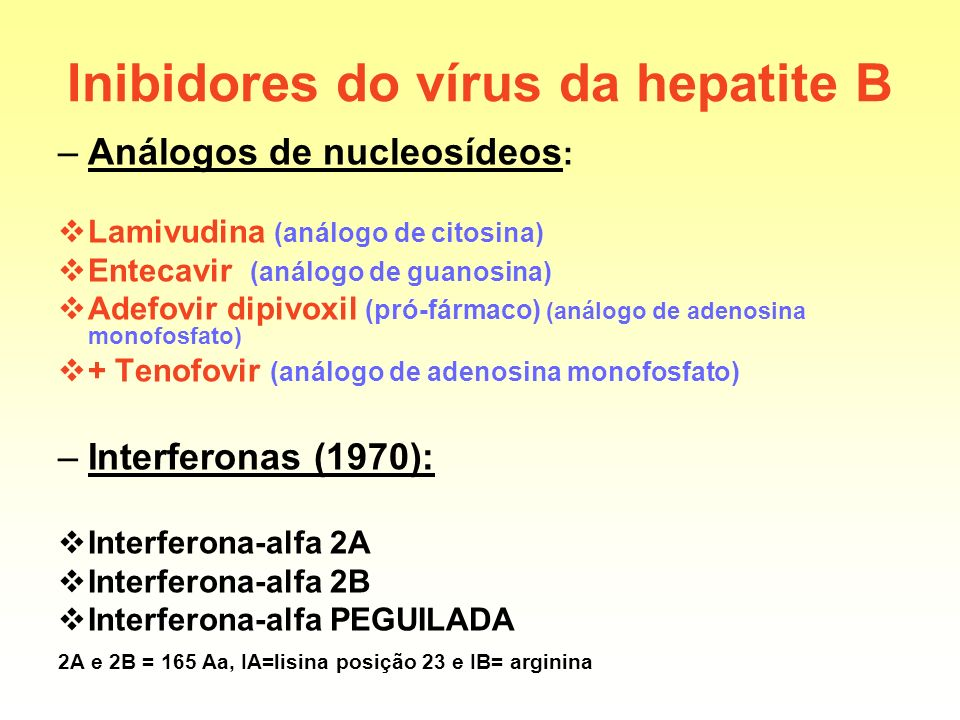 Inibidores do vírus da hepatite B