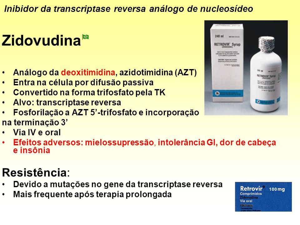 Zidovudina Resistência:
