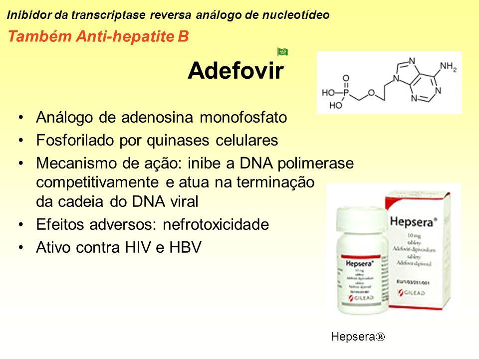 Adefovir Também Anti-hepatite B Análogo de adenosina monofosfato