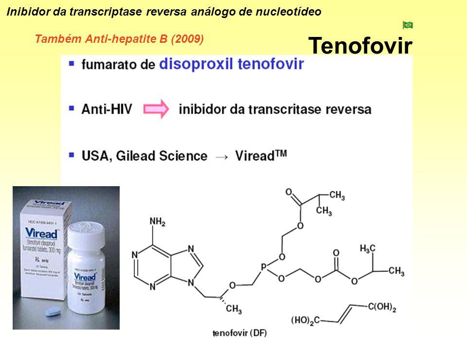 Tenofovir Inibidor da transcriptase reversa análogo de nucleotídeo