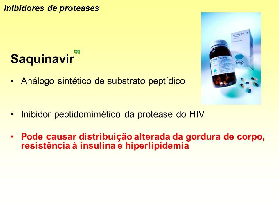 Saquinavir Análogo sintético de substrato peptídico