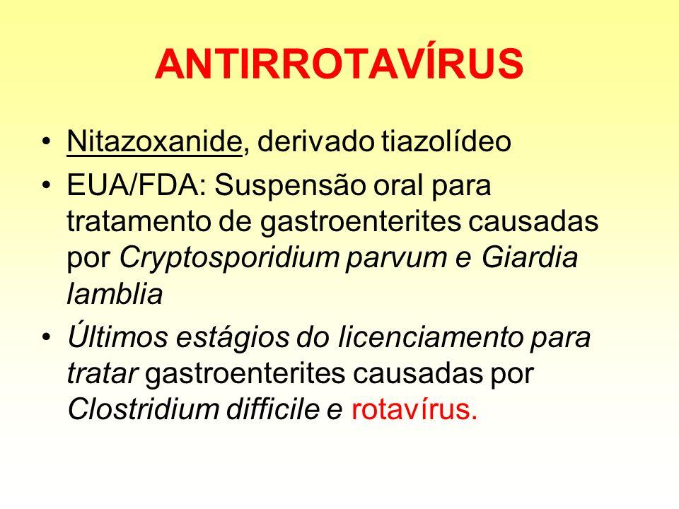 ANTIRROTAVÍRUS Nitazoxanide, derivado tiazolídeo
