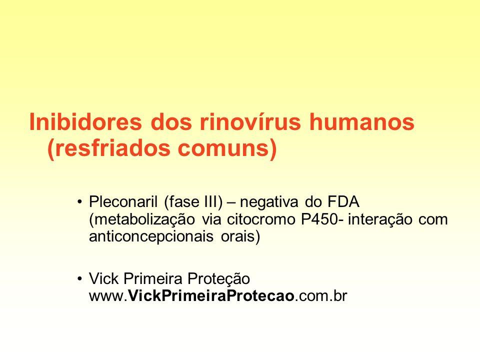 Inibidores dos rinovírus humanos (resfriados comuns)