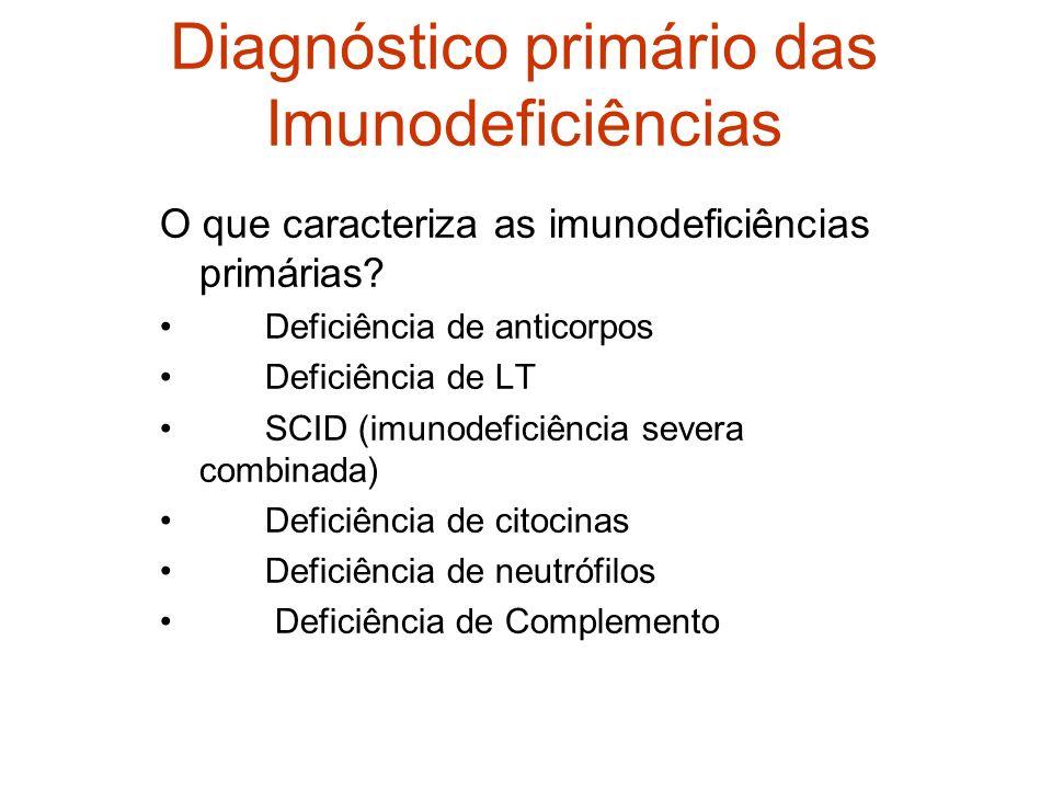 Diagnóstico primário das Imunodeficiências