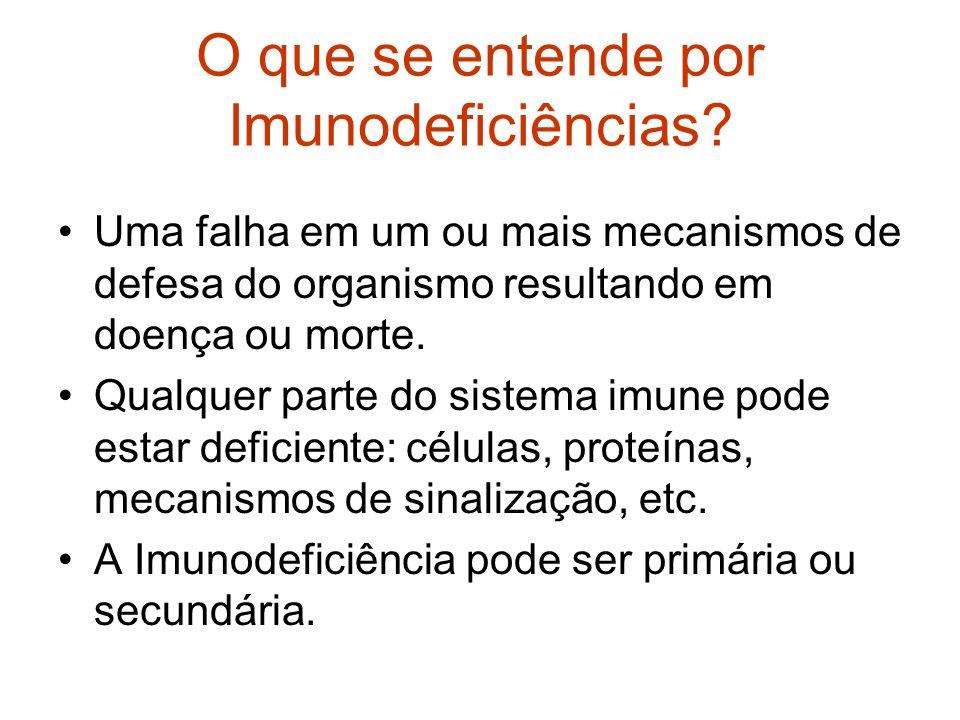 O que se entende por Imunodeficiências