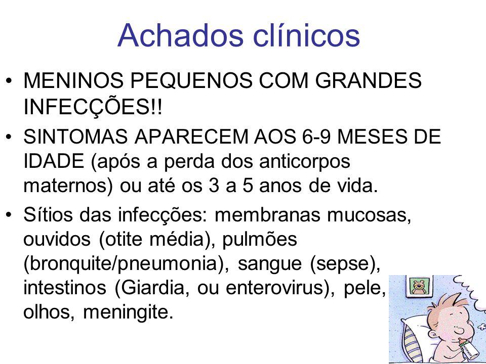 Achados clínicos MENINOS PEQUENOS COM GRANDES INFECÇÕES!!