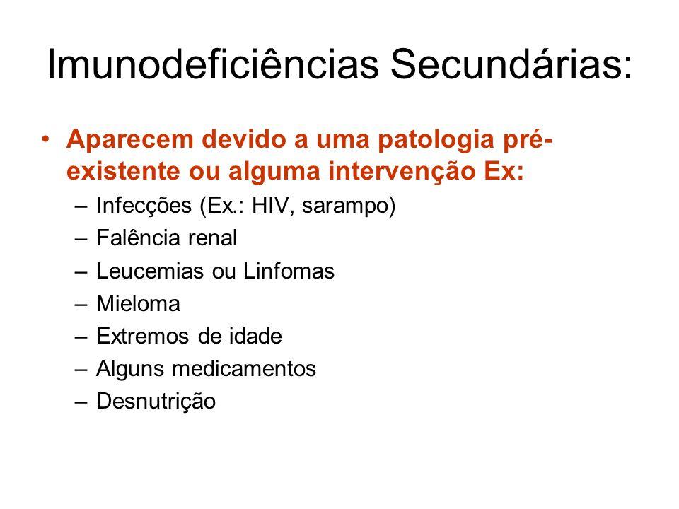Imunodeficiências Secundárias:
