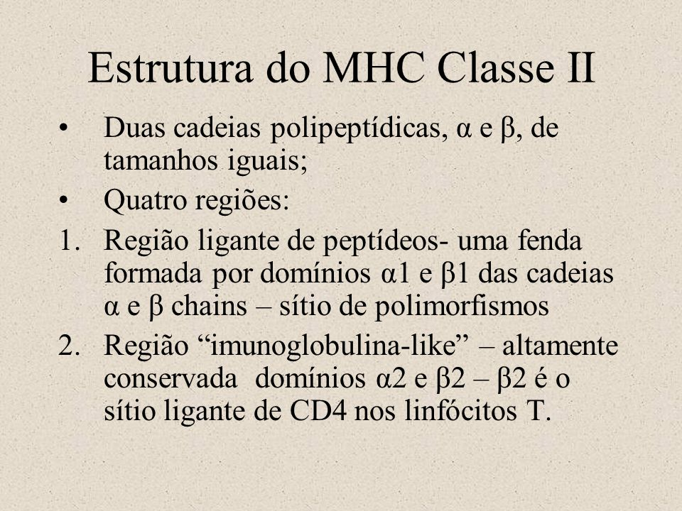 Estrutura do MHC Classe II