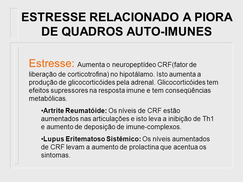 ESTRESSE RELACIONADO A PIORA DE QUADROS AUTO-IMUNES