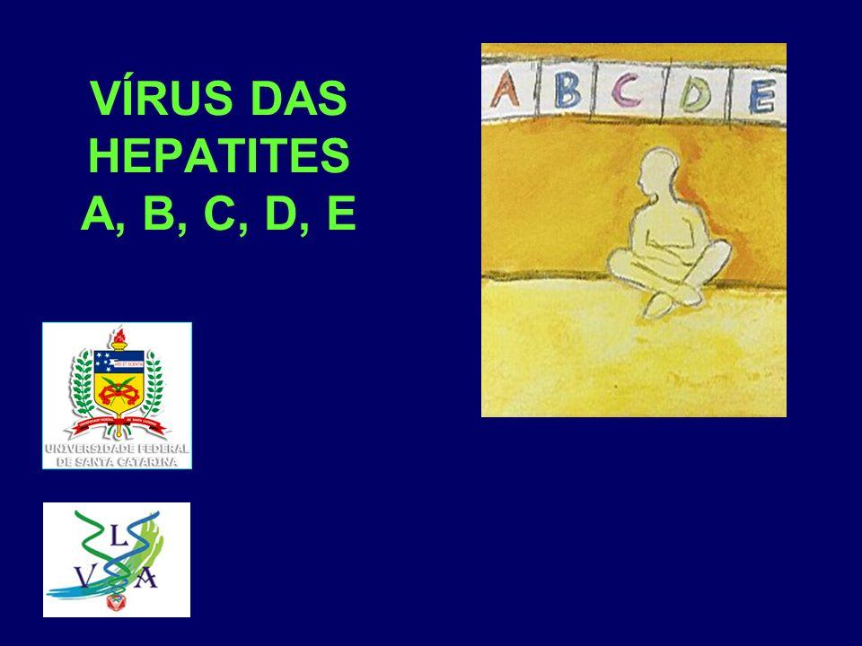 VÍRUS DAS HEPATITES A, B, C, D, E