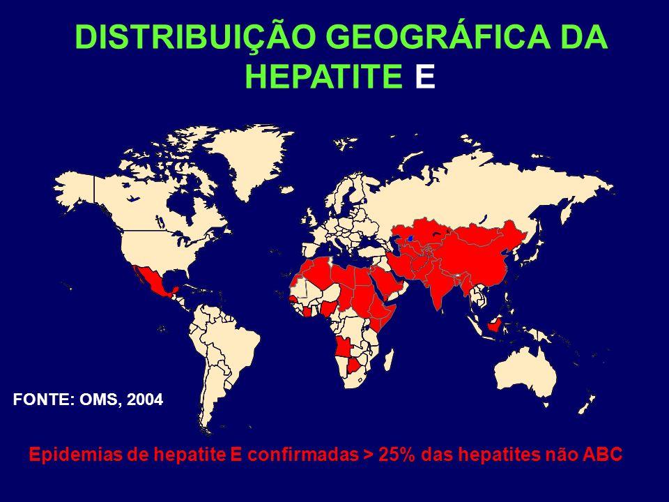 DISTRIBUIÇÃO GEOGRÁFICA DA HEPATITE E
