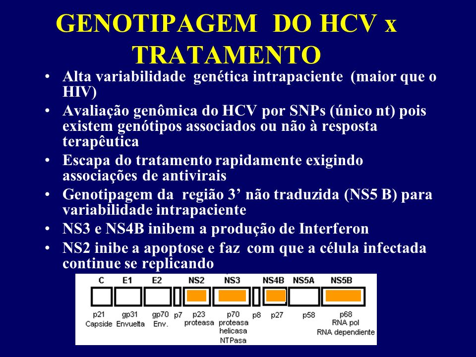 GENOTIPAGEM DO HCV x TRATAMENTO