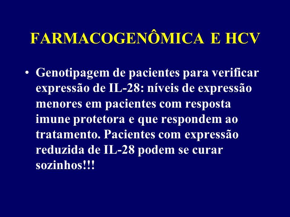 FARMACOGENÔMICA E HCV