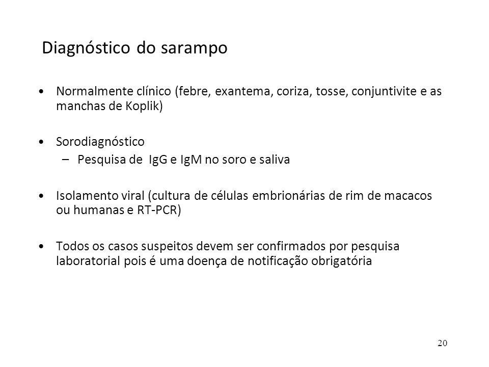 Diagnóstico do sarampo