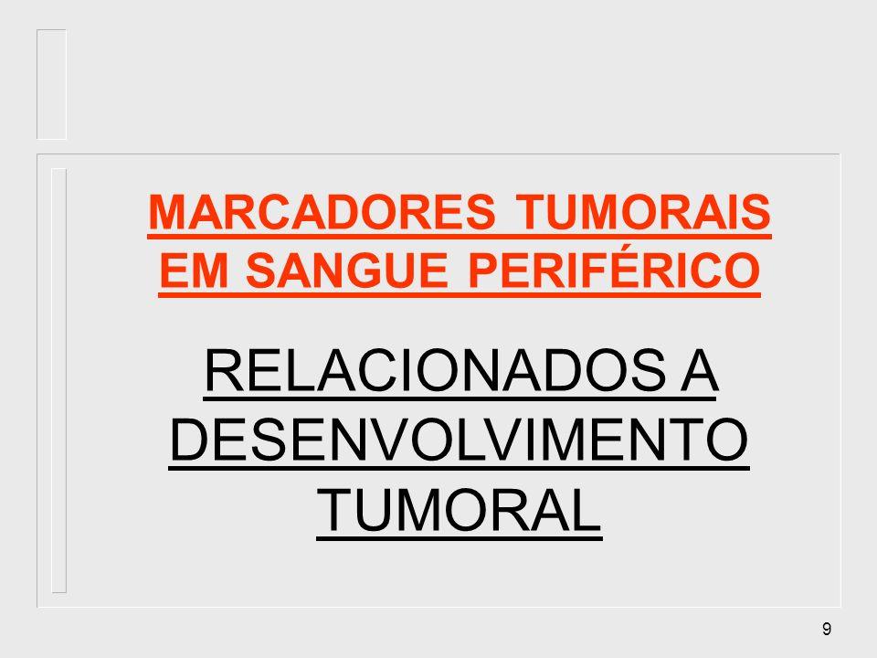 MARCADORES TUMORAIS EM SANGUE PERIFÉRICO