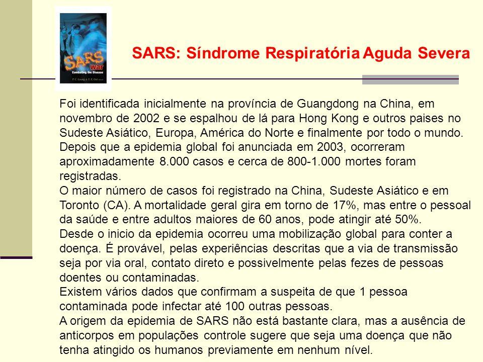 SARS: Síndrome Respiratória Aguda Severa