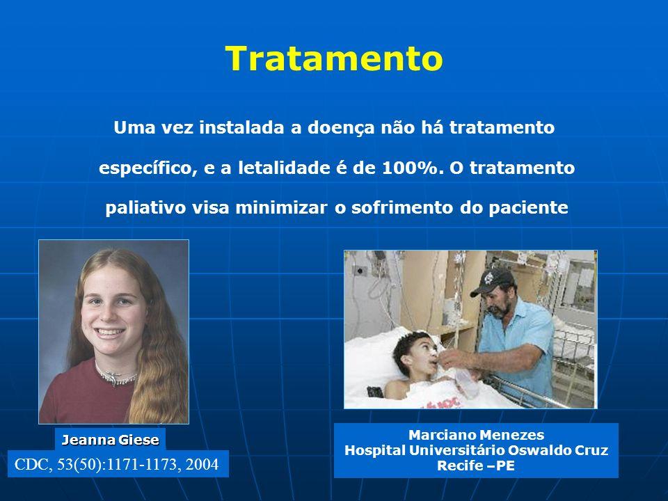 Tratamento Uma vez instalada a doença não há tratamento