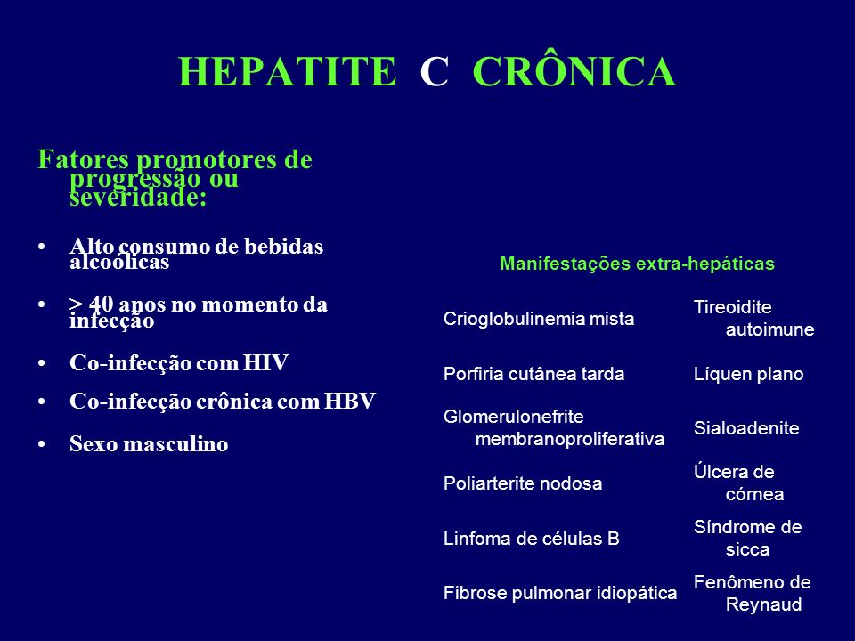 Manifestações extra-hepáticas