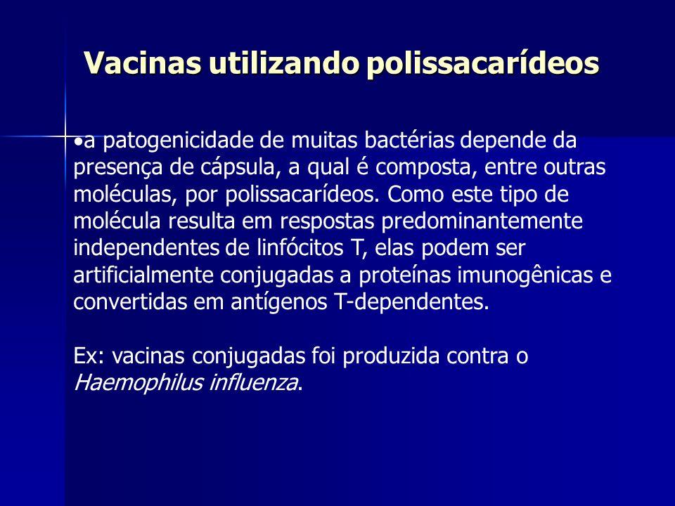Vacinas utilizando polissacarídeos