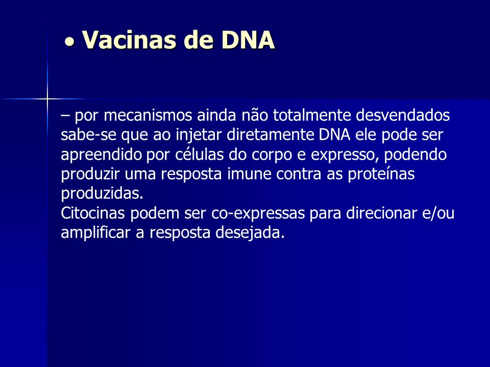  Vacinas de DNA