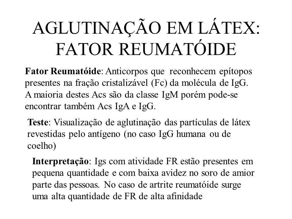 AGLUTINAÇÃO EM LÁTEX: FATOR REUMATÓIDE