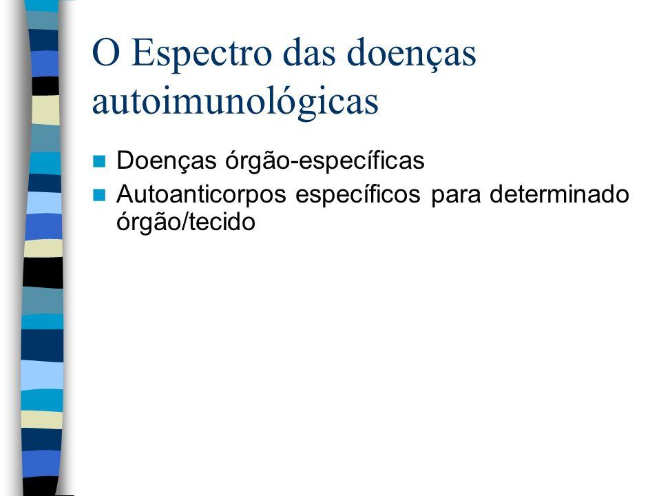 O Espectro das doenças autoimunológicas
