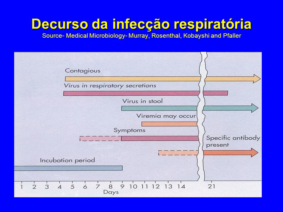 Decurso da infecção respiratória Source- Medical Microbiology- Murray, Rosenthal, Kobayshi and Pfaller