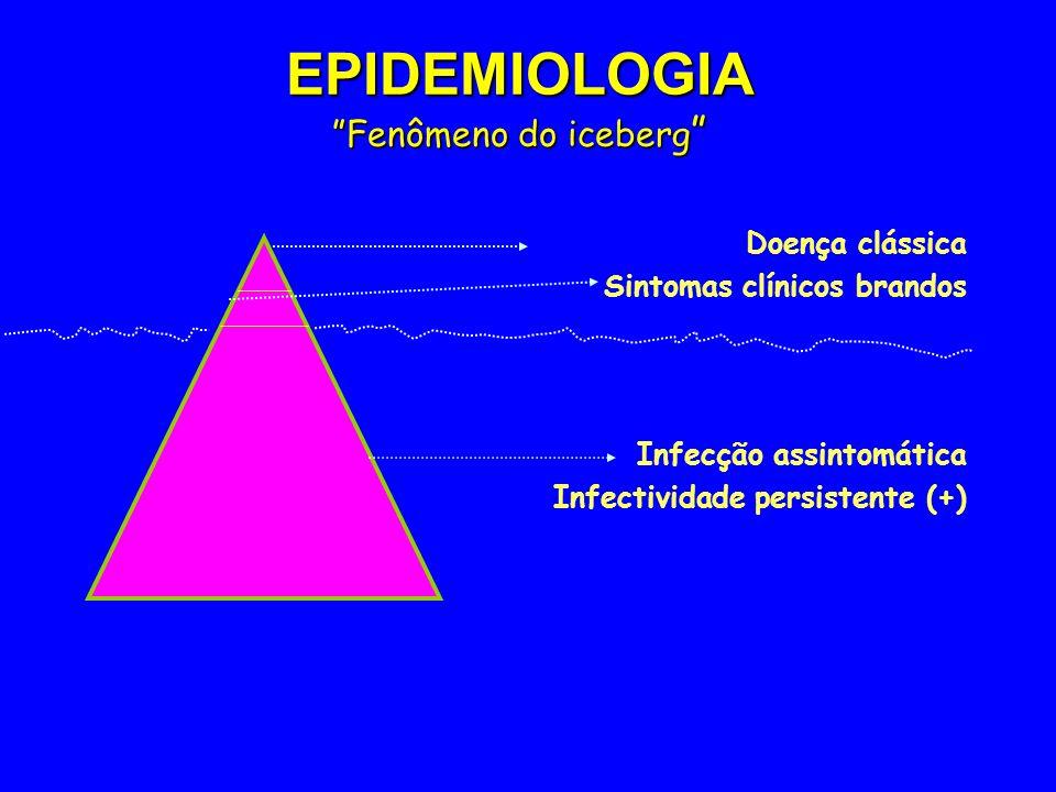 EPIDEMIOLOGIA Fenômeno do iceberg