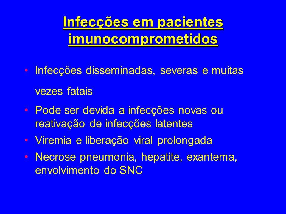 Infecções em pacientes imunocomprometidos