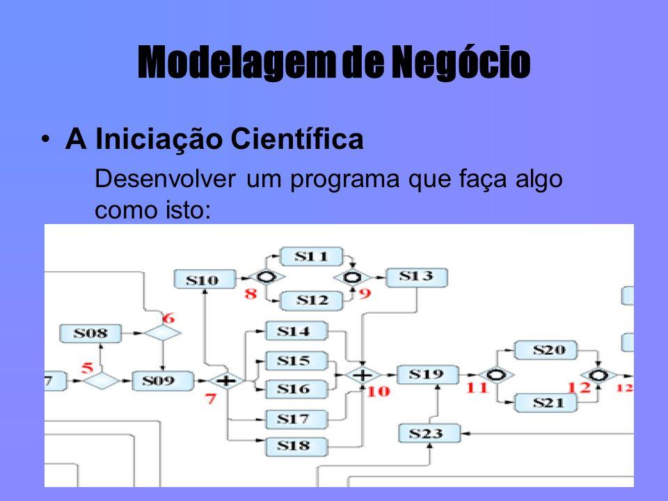 Modelagem de Negócio A Iniciação Científica