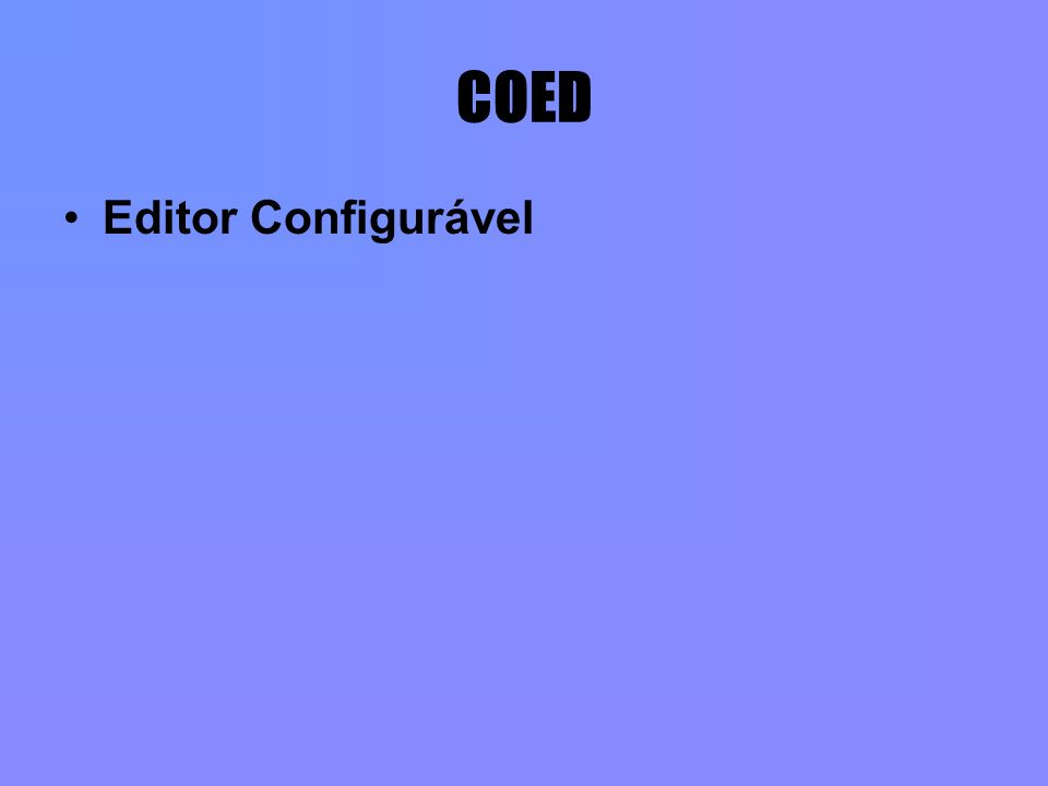 COED Editor Configurável
