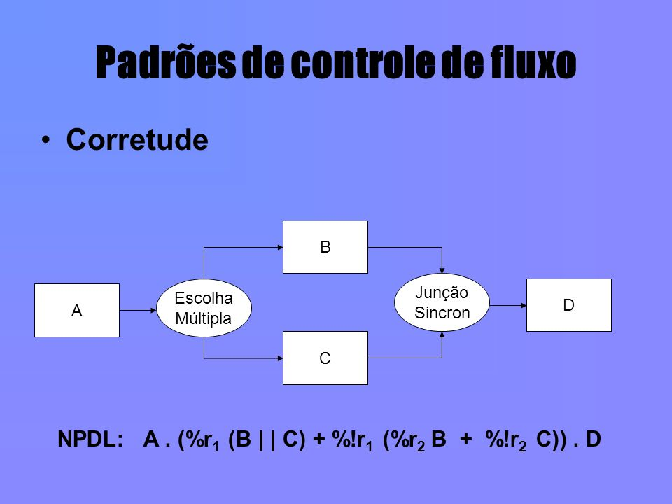Padrões de controle de fluxo