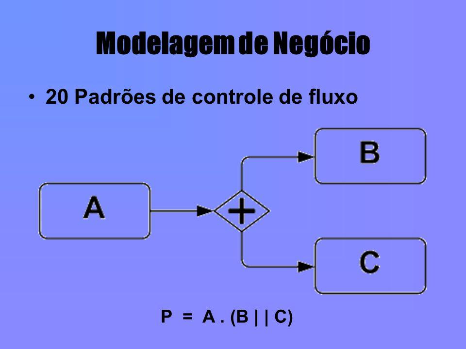 Modelagem de Negócio 20 Padrões de controle de fluxo P = A . (B | | C)