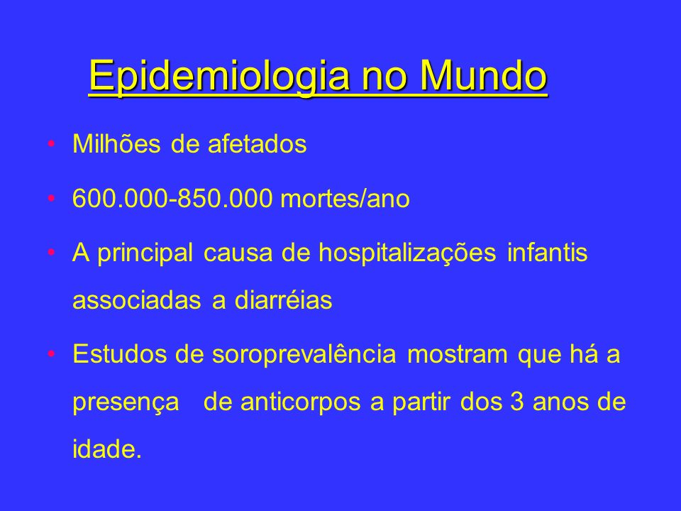 Epidemiologia no Mundo