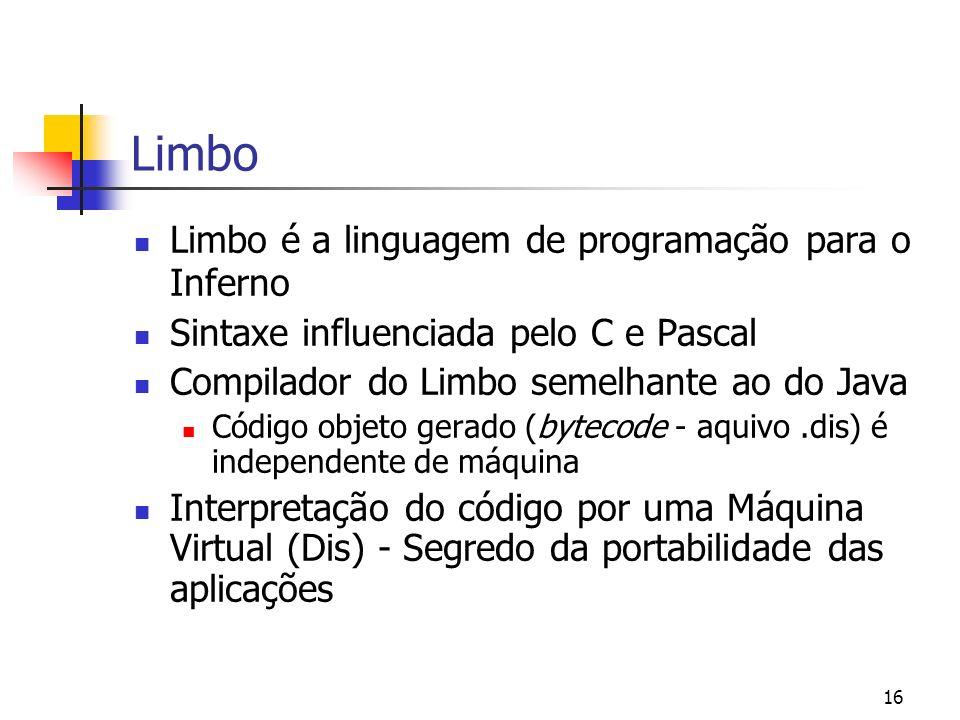Limbo Limbo é a linguagem de programação para o Inferno