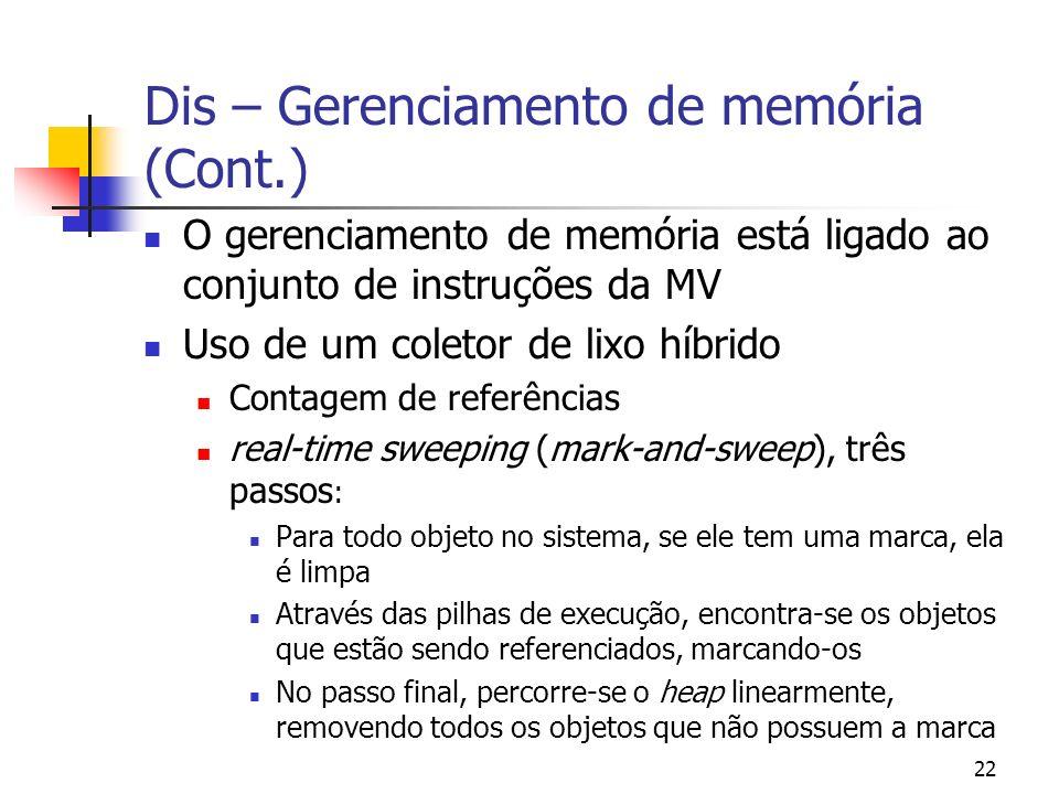 Dis – Gerenciamento de memória (Cont.)