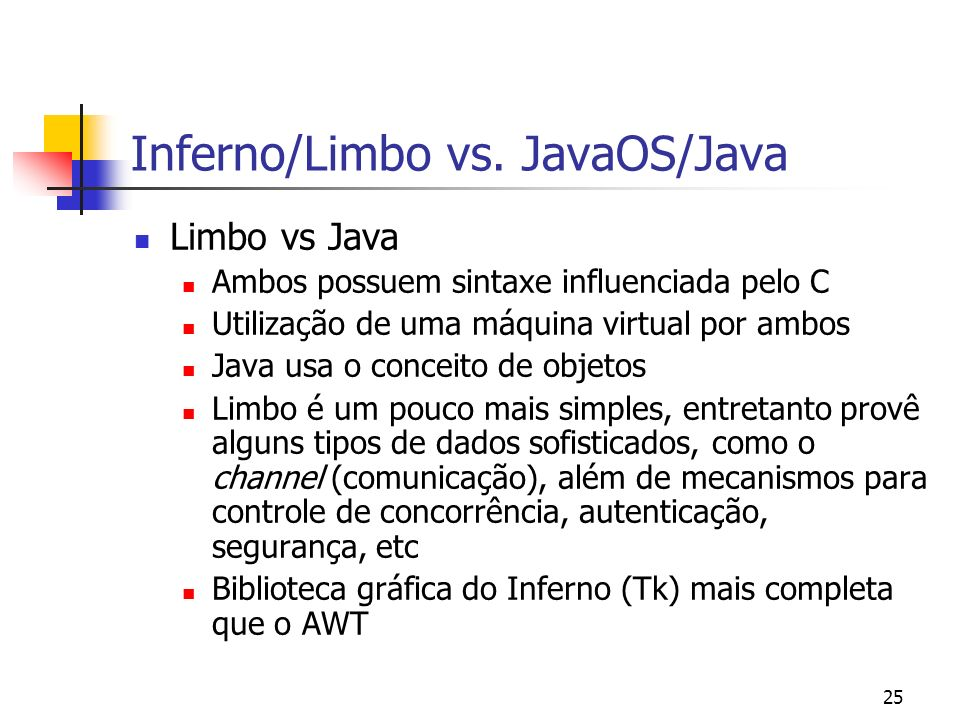 Inferno/Limbo vs. JavaOS/Java