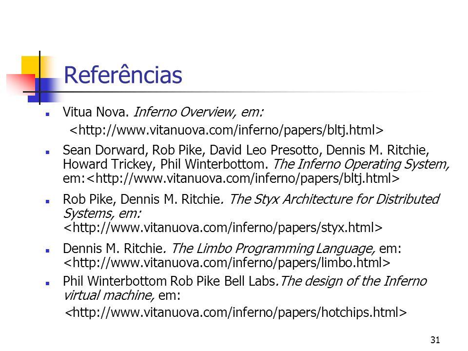 Referências Vitua Nova. Inferno Overview, em: